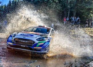 Starkes Ergebnis für die Rallye-Fiesta von M-Sport Ford bei der Akropolis-Rallye Griechenland: Adrien Fourmaux / Renaud Jamoul verlieren fünfte Position auf der letzten Etappe ohne eigenes Verschulden, freuen sich aber über Platz sieben. Foto (c) OBS M-Sport Ford Fotograf: Ford-Werke GmbH