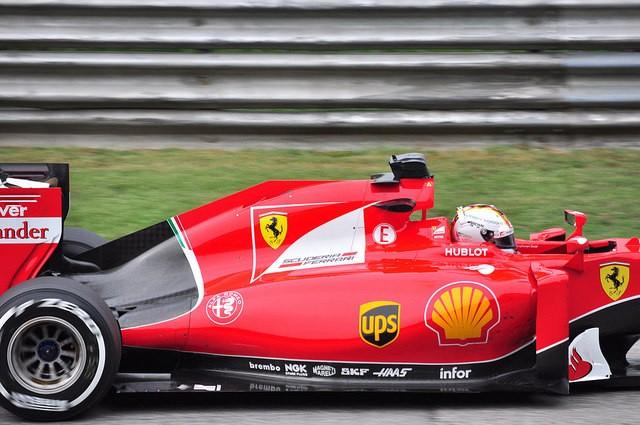 Sebastian Vettel im Ferrari Foto:@ flickr.com/photos/pedrik/