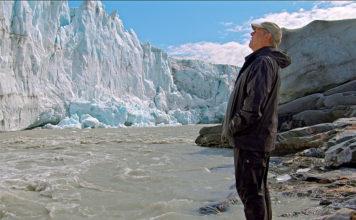 """Nirgendwo sieht Al Gore die Zeichen der globalen Erwärmung so drastisch wie am Fuß schmelzender Gletscher. Foto (c)""""obs/3sat/ZDF/Paramount Pictures/Participa"""""""