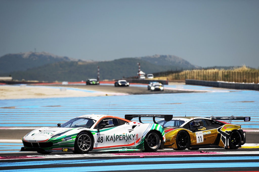 Ferarri 488GT Kaspersky Motorsport 2 victorys at Paul Ricard France