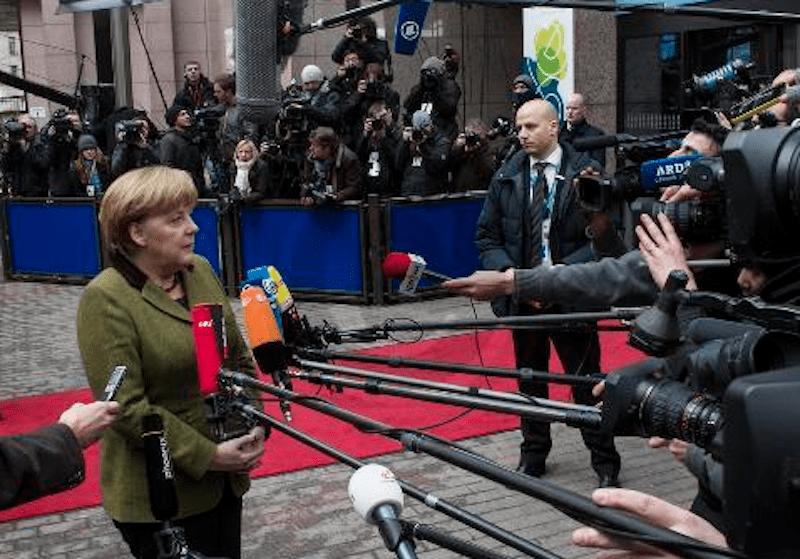 Angela Merkel CDU in Brüssel Foto: Lajos Jardai modusphoto.net