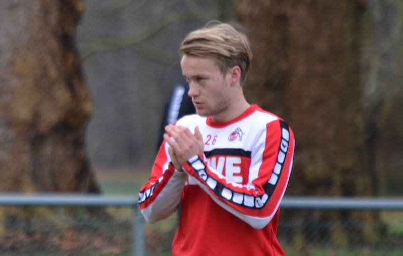 Bard Finne beim FC Training