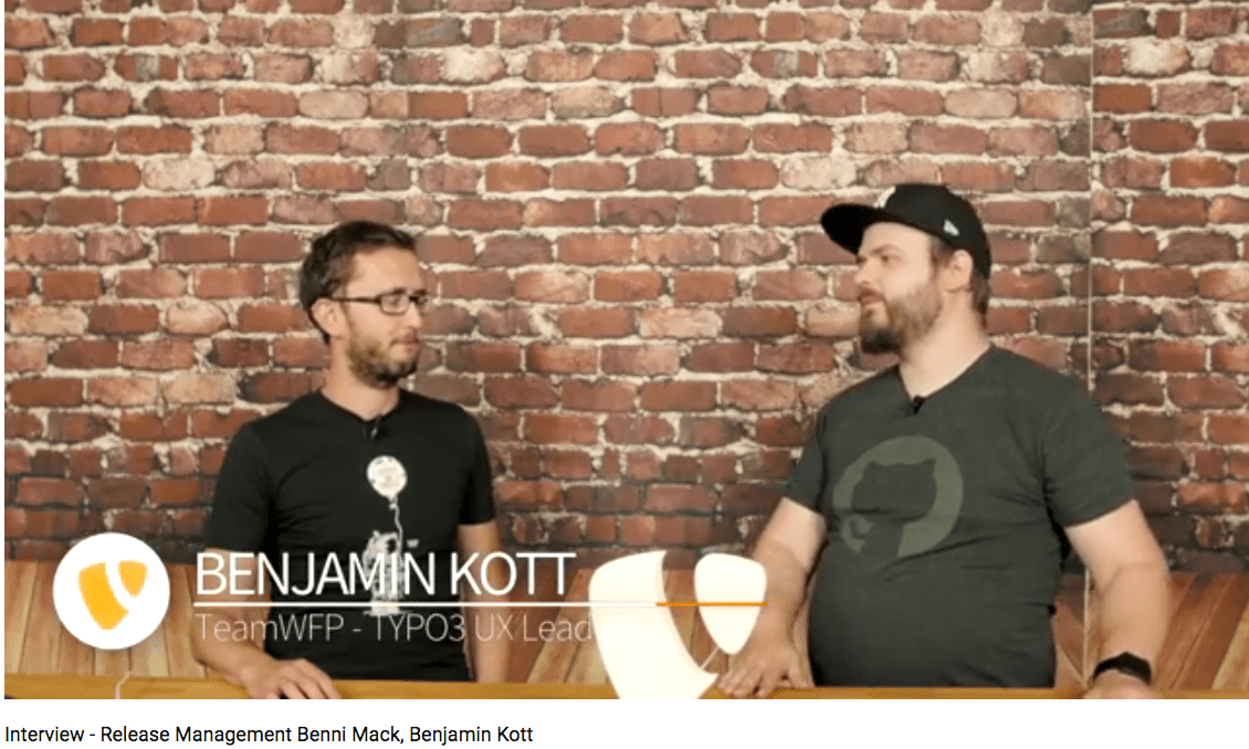 Benni Mack links Benjamin Kott rechts Screen aus Youtube Video in Benjamins Channel