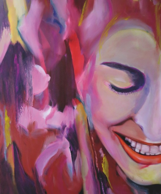 Claudia Franzen bei Maternus Apotheke - Woman House, 120 x 160 cm, 2018, Öl und Lack auf Leinwand