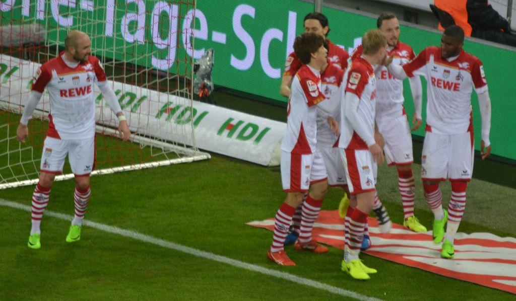 1FC Köln gegen S04 nach dem Tor von Modeste