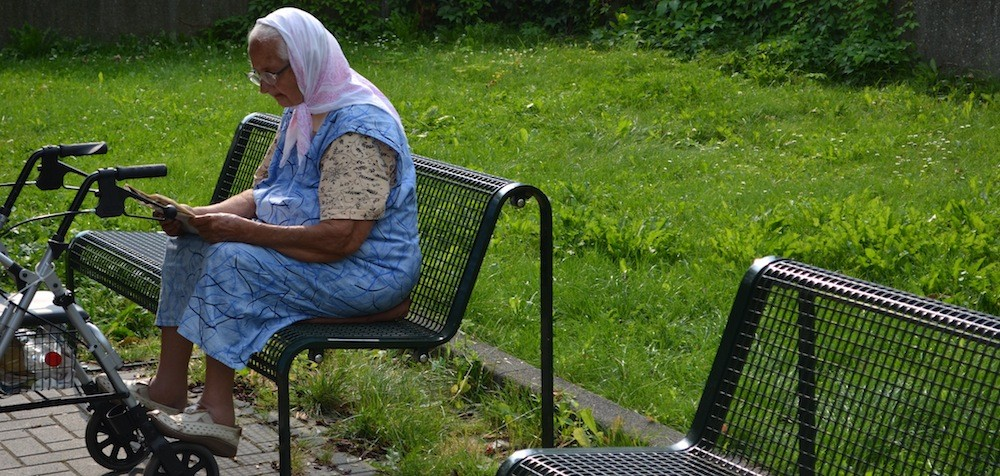 Alte Frau in Sürth