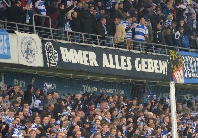 MSV Duisburg immer alles geben