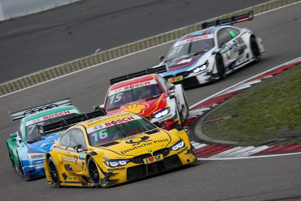 #16 Timo Glock, BMW M4 DTM, #77 Loïc Duval, Audi RS5 DTM, #15 Augusto Farfus, BMW M4 DTM