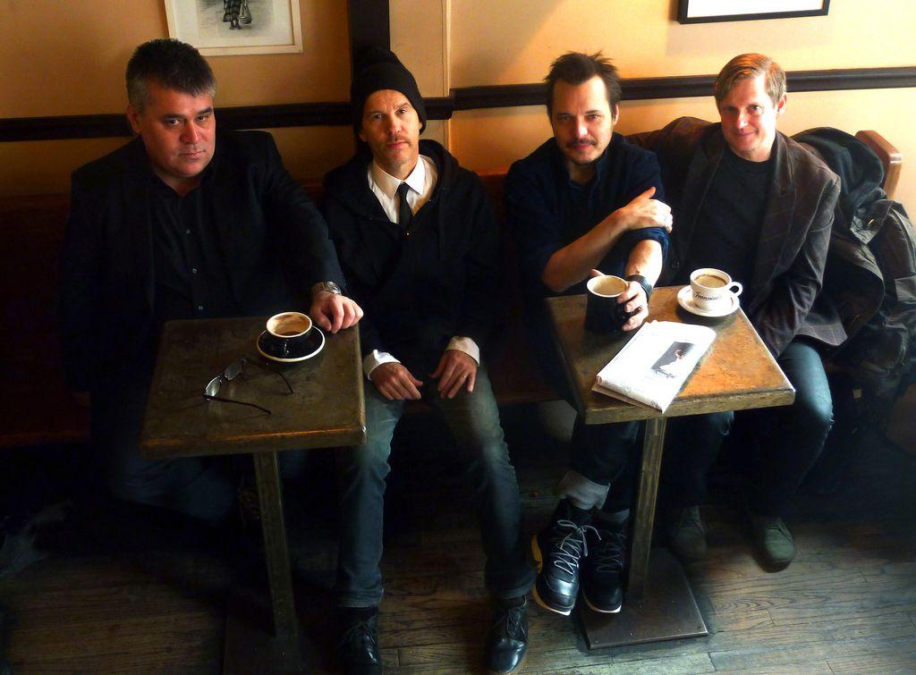 From left to right: Oscar Noriega, Chris Speed, Trevor Dunn, and Jim Black. At cafe Martin, Brooklyn, December 28th 2016 Foto(c)Valeria Truchia