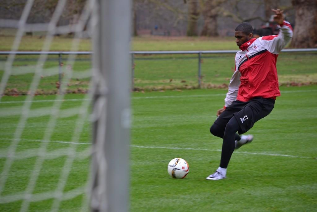 FC Training Anthony Modeste lässt es krachen