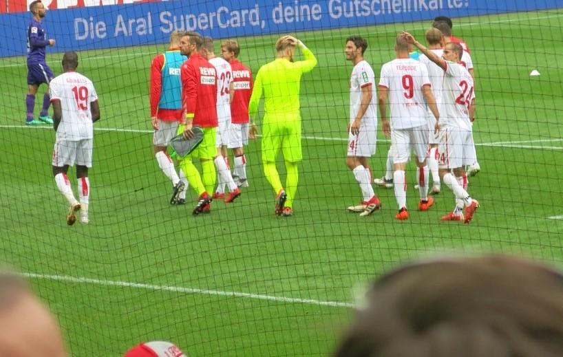 1FC Köln nach Sieg gegen Aue Stadionfoto (c) @Mailandfahrer
