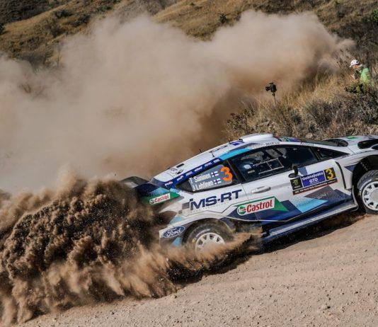 """Podiumsergebnis Platz 3 für Teemu Suninen/Jarmo Lehtinen und den Ford Fiesta WRC bei der WM-Rallye Mexiko. Foto(c) """"obs/Ford-Werke GmbH"""""""