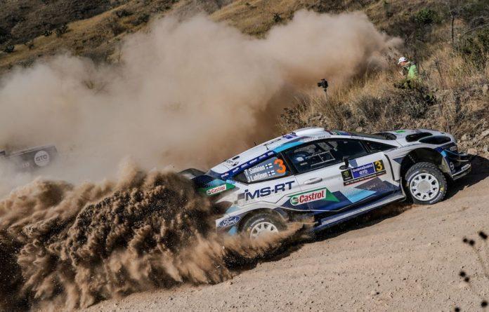 Podiumsergebnis Platz 3 für Teemu Suninen/Jarmo Lehtinen und den Ford Fiesta WRC bei der WM-Rallye Mexiko. Foto(c)