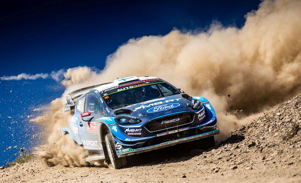 """Eine Rallye mit zwei Gesichtern: Ford setzt sich für spanischen WM-Lauf ehrgeizige Ziele. Teemu Suninen / Jarmo Lehtinen haben ihren Status als Geheimfavoriten längst abgelegt und peilen mit dem Ford Fiesta WRC ein Podiumsresultat an. Foto (c) """"obs/Ford-Werke GmbH"""""""