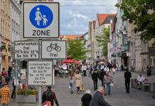 Foto: Fußgängerzone in Ingolstadt 2014, copyright by Johannes Hauser