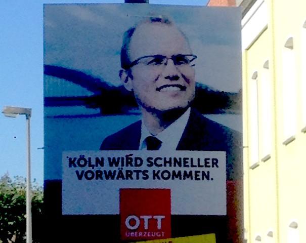 OB Wahl Köln Jochen Ott Plakat