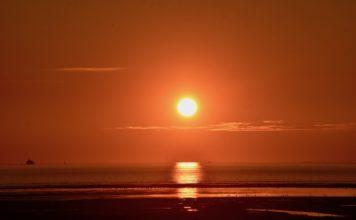 Sonnenuntergang Nordsee Ostfriesland Krummhörn
