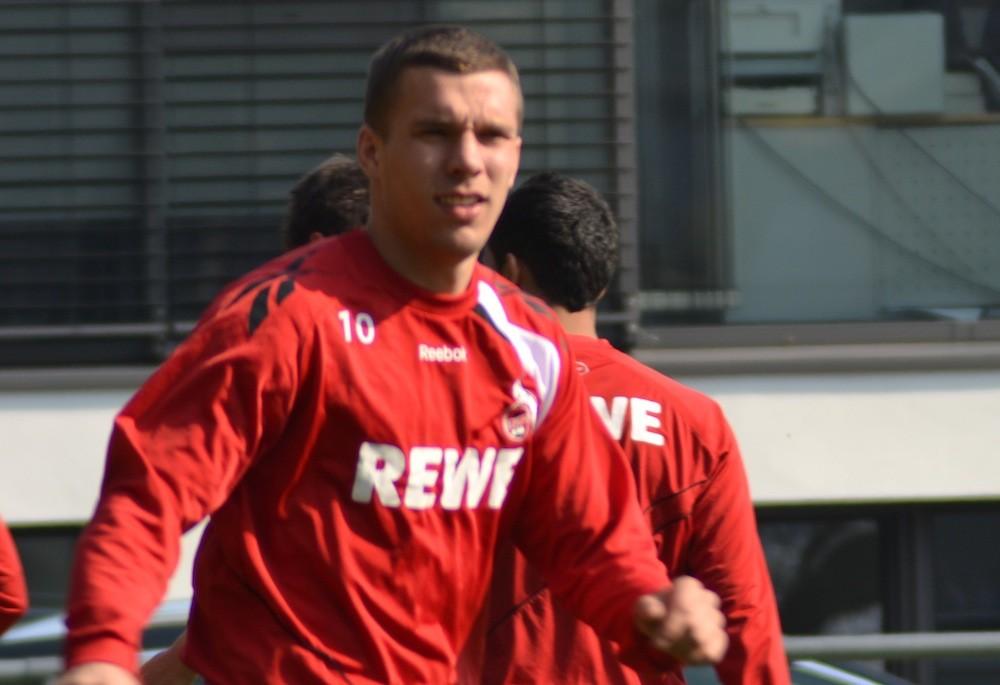Poldi noch im FC Dress