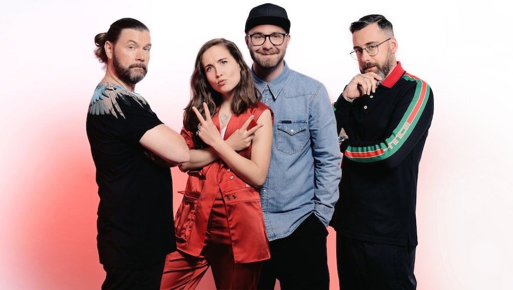 "The Voice of Germany Rea Garvey; Alice Merton;Mark Forster;Sido; Copyright: SAT.1/ProSieben/Michael de Boer Foto(c) ""obs/The Voice of Germany"""