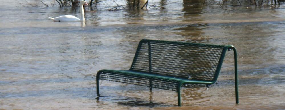 Umweltschutz Theme Hochwasser