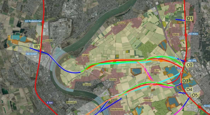 Visonen zur Rheinspange visualisiert. Urheber: StraßenNRW