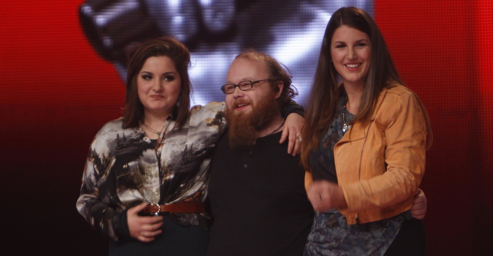 Foto:The Voice of Germany Violeta, Andreas, Katharina Foto: © SAT.1/ProSieben/Richard Huebner
