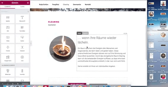 Elementor Visual Composer zur Seitengestaltung in Wordpress