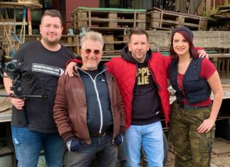 v. links 'Medienschmied' Michael Soutschka,DeeEmZee,Schauspieler Martin Semmelrogge Sängerin Jenny D. Madly