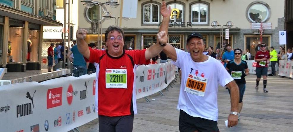 Jazzie und Klausi beim RheinEnergie Halbmarathon :-)