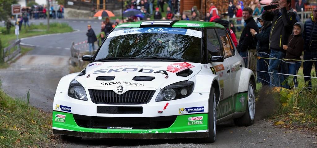 SKODA Werkspiloten Esapekka Lappi/Janne Ferm auf dem Weg zum Europameister-Titel 2014