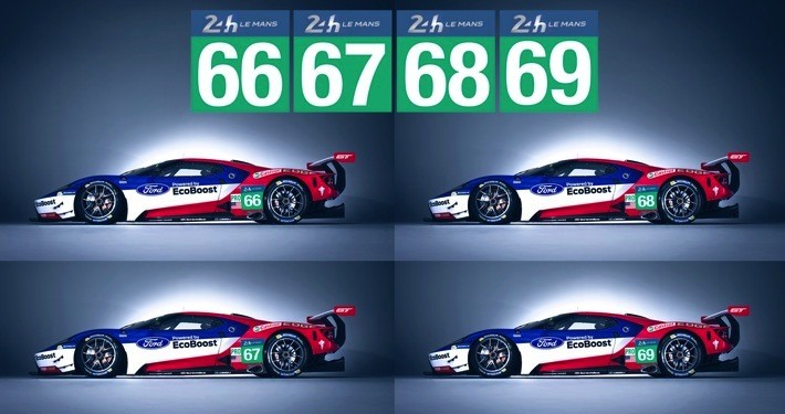 "Vier Ford GT 2016 bei den 24H Le Mans Foto:""obs/Ford-Werke GmbH"""