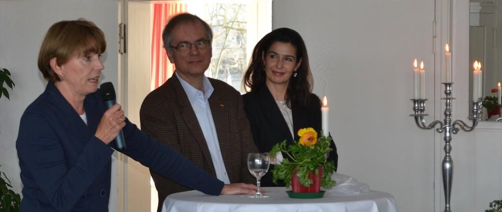 Henriete Reker wurde von der CDU unterstütz Heribert Hirte und Alexandra Wengersky