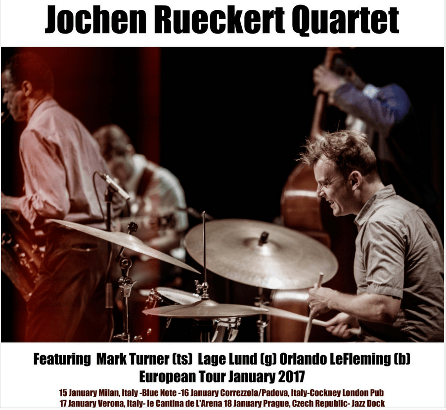 "Jochen Rückert Quartet feat. Mark Turner CD-release ""Charm Offensive"""