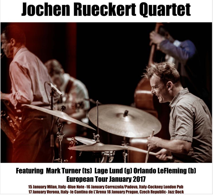 """Jochen Rückert Quartet feat. Mark Turner CD-release """"Charm Offensive"""""""