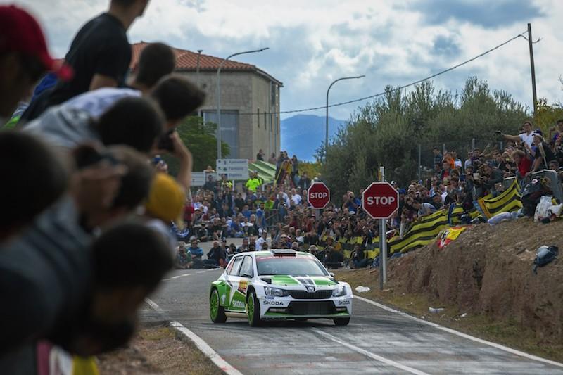 """SKODA bei der Rallye Spanien Foto: """"obs/Skoda Auto Deutschland GmbH"""""""